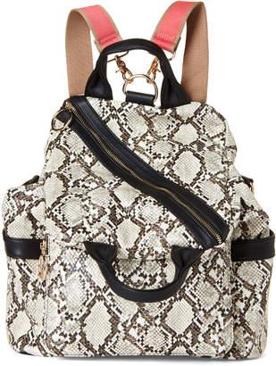 Like Dreams Snakeskin-Effect Convertible Shoulder Bag