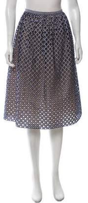 Michael Kors Cutout Gingham Skirt
