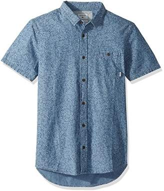 Quiksilver Men's Printed Chambray Short Sleeve Woven