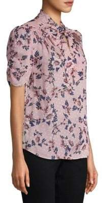 Kate Spade Out West Prairie Rose Silk Blouse
