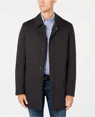 Kenneth Cole New York Men's Reyes Modern-Fit Black Raincoat