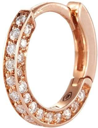 Repossi Micro Créole Diamond Pavé 18k Rose Gold Single Hoop Earring