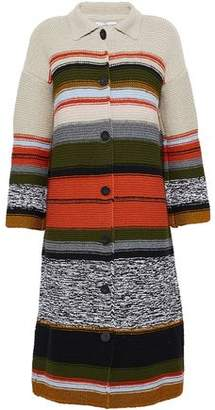 Rosetta Getty Intarsia-Knit Coat