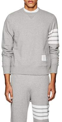 Thom Browne Men's Block-Striped Cotton Sweatshirt - Light Gray