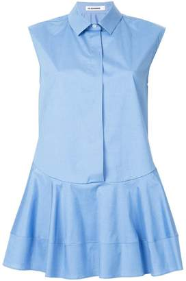 Jil Sander sleeveless flare shirt