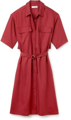 Lacoste Women's Belted Pique Shirt Dress