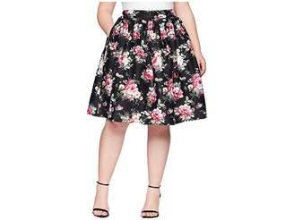 Unique Vintage Plus Size High Waist Swing Skirt Women's Skirt