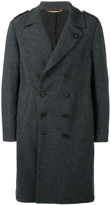 Lardini loose double-breasted coat