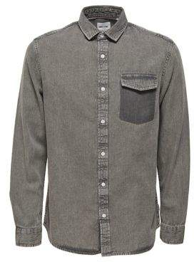 ONLY & SONS Casual Denim Button-Down Shirt