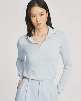 Ralph Lauren Cashmere Long-Sleeve Polo