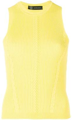Versace ribbed knit top