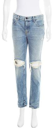 Alexander Wang Denim x Mid-Rise Distressed Jeans