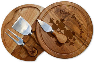 Picnic Time Toscana by Mickey & Minnie Mouse Acacia Brie Cheese Board & Tools Set