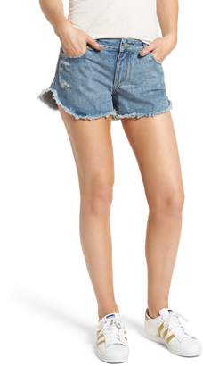DL1961 Renee Dolphin Hem Denim Shorts