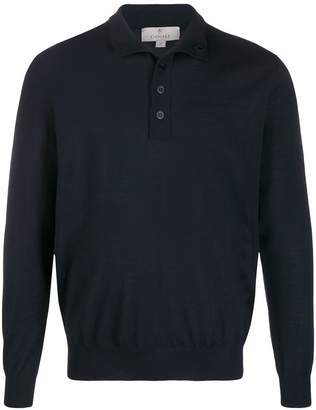 Canali buttoned neck jumper