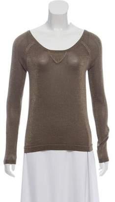 Rag & Bone Metallic Scoop Neck Sweater