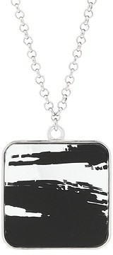Marc by Marc Jacobs Painted Stripe Jewelry Square Pendant Choker