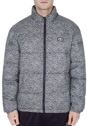 Obey Bouncer Leopard-Print Puffer Jacket
