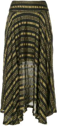 Kitx draped gold stripe skirt