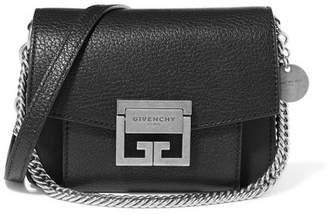 Givenchy Gv3 Mini Textured-leather Shoulder Bag - Black