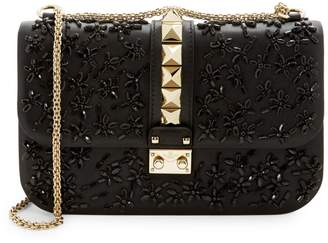 Valentino Embellished Leather Crossbody Bag