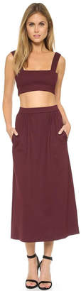 Torn By Ronny Kobo Glory Bordeaux Skirt