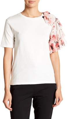 OnTwelfth Chiffon Floral Detailed Tee