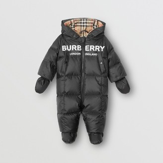 Burberry Childrens Logo Print Down-filled Puffer Suit