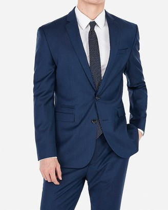 Express Slim Navy Wool-Blend Stretch Suit Jacket