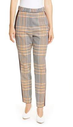 HUGO Herani Windowpane Plaid Side Stripe Suit Pants
