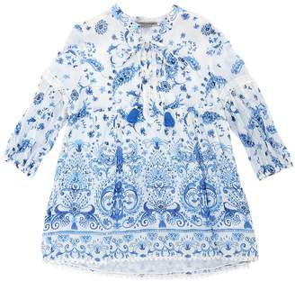 Ermanno Scervino Printed Cotton & Silk Muslin Shirt