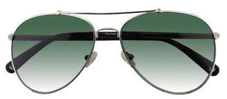 Amanda Wakeley The Soho Silver Aviator Sunglasses