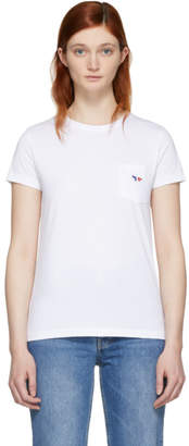 MAISON KITSUNÉ White Tricolor Fox Patch T-Shirt