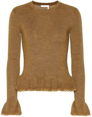 See by Chloe Ruffled wool sweater
