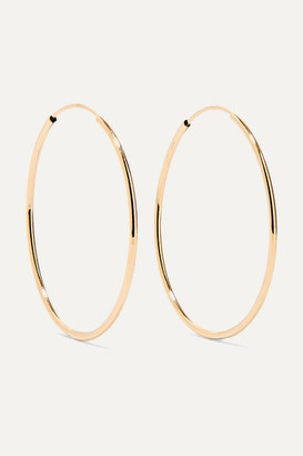 Loren Stewart - Infinity 14-karat Gold Hoop Earrings