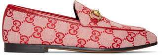 Gucci Red New Canvas Jordan Loafers