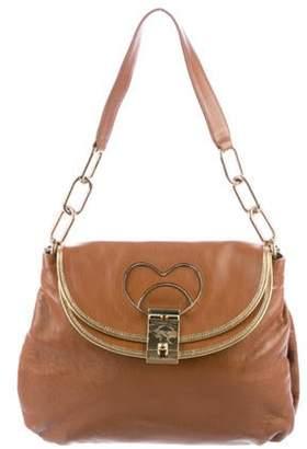 Marc Jacobs Leather Shoulder Bag Cognac Leather Shoulder Bag