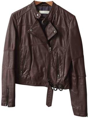 Whistles Brown Leather Jacket for Women