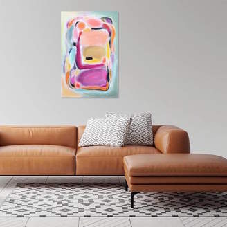 Paint-Me-Happy Art Bold Bright Pink Ochre Multicoloured Abstract Wall Art
