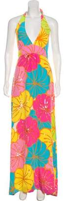 Lilly Pulitzer Sequined Floral Print Dress
