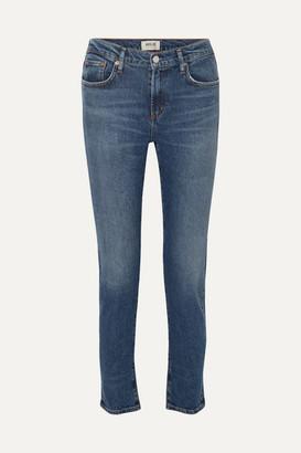 A Gold E Agolde Toni Mid-rise Skinny Jeans