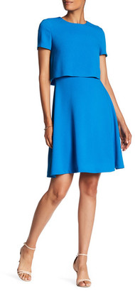 BOSS HUGO BOSS Dicenda Popover Crepe Dress $575 thestylecure.com