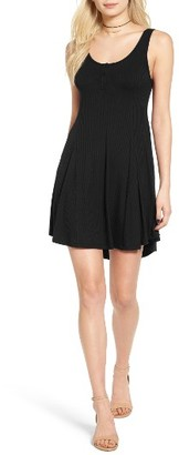 Women's Lush Ribbed Skater Dress $39 thestylecure.com