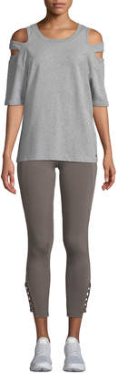 Nanette Lepore Play Racey Lacey Strappy Cropped Leggings