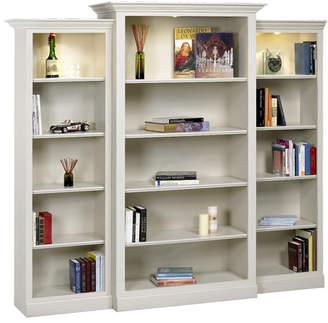 A&E Wood Designs Adelphi Oversized Set Bookcase