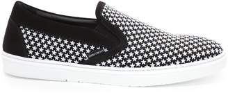 Jimmy Choo GROVE Black Suede Slip On Trainers with Mini Rubber Stars