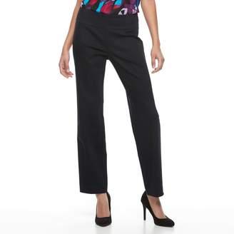 Dana Buchman Women's Pull-On Straight-Leg Pants