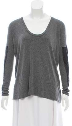 Mason Leather-Trimmed Knit Top