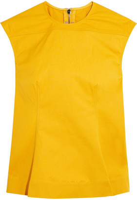Rick Owens - Calpurnia Cotton-blend Canvas Top - Yellow $755 thestylecure.com