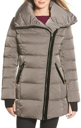 Vera Wang Asymmetrical Zip Quilted Coat $398 thestylecure.com